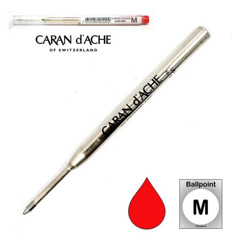Caran D'ache - Ballpoint Refills - Goliath Refill - Medium Point - Red