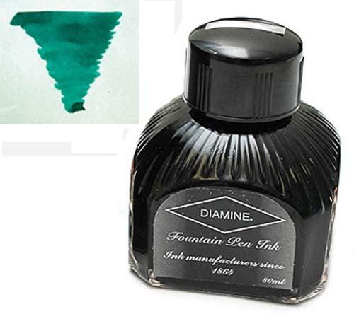 Diamine Refills Dark Green  Bottled Ink 80mL