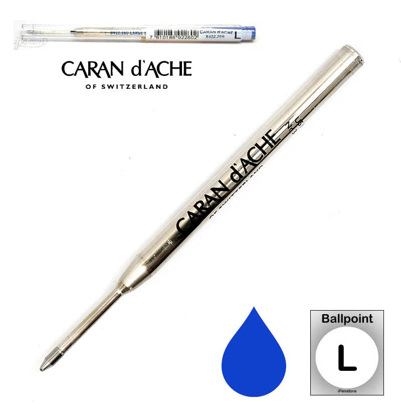 Caran D'ache - Ballpoint Refills - Goliath Refill - Broad Point - Blue