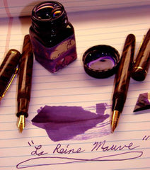 Noodler's Ink Refills La Reine Mauve Eternal 1oz  Bottled Ink