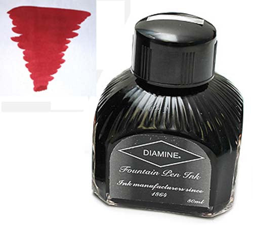 Diamine Refills Crimson  Bottled Ink 80mL