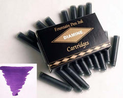 Diamine Refills Imperial Purple Pack of 18  Fountain Pen Cartridge