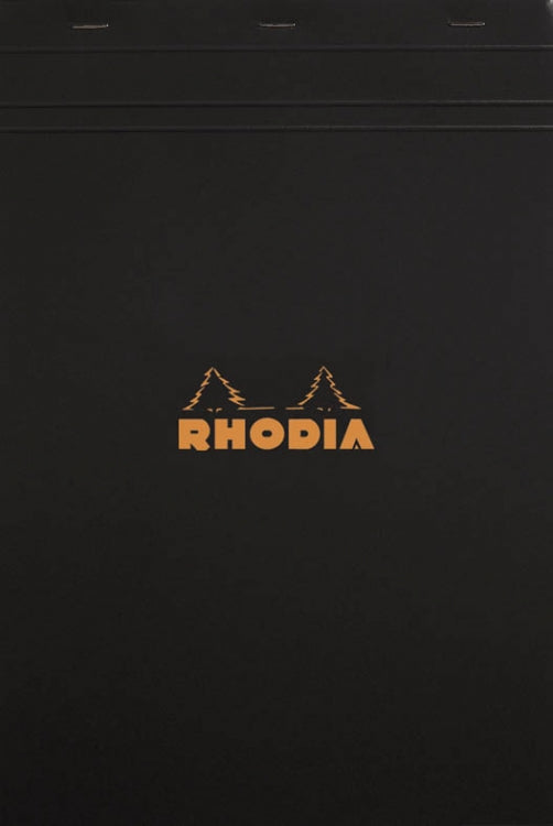 Rhodia Staplebound - Notepad - Black - Graph - 8.25 x 11.75