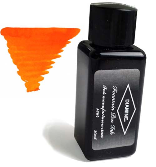 Diamine Refills Orange 30mL  Bottled Ink