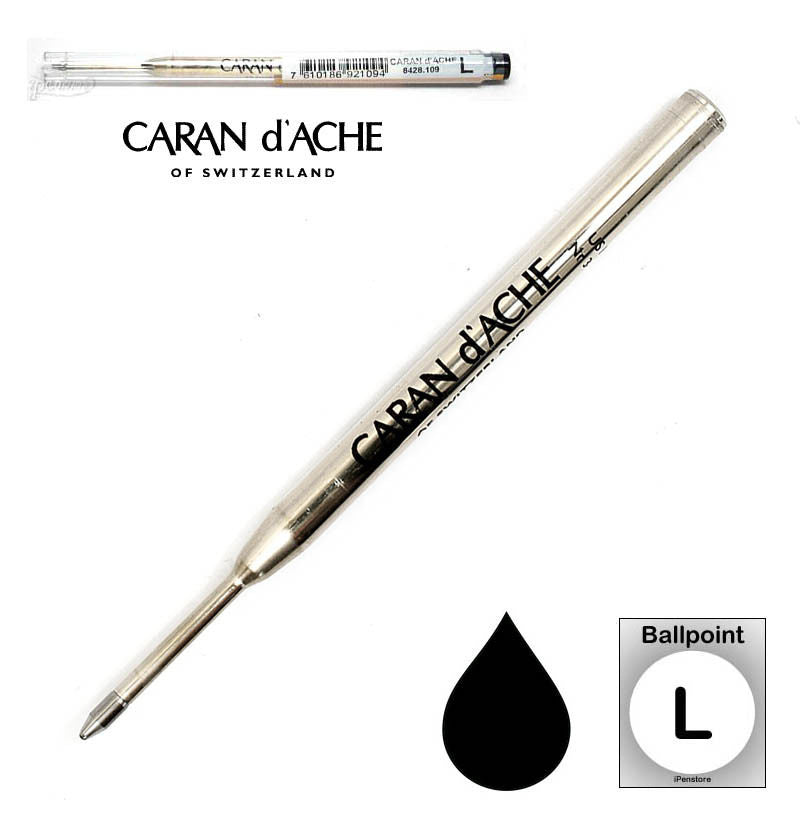 Caran D'ache - Ballpoint Refills - Goliath Refill - Broad Point - Black