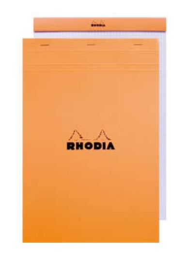 Rhodia Staplebound - Notepad - Orange - Lined with Margin - 6 x 8.25