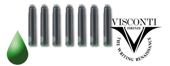 Visconti Refills Fountain Ink Cartridges - Green