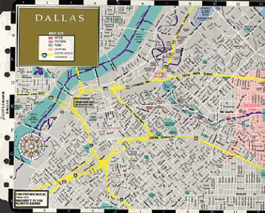 Filofax - Papers - Dallas Map - Personal Size