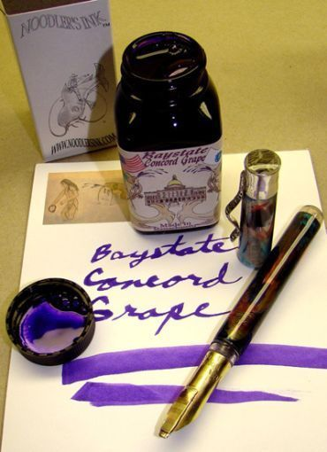 Noodler's Ink Refills Baystate Concord Grape  Bottled Ink
