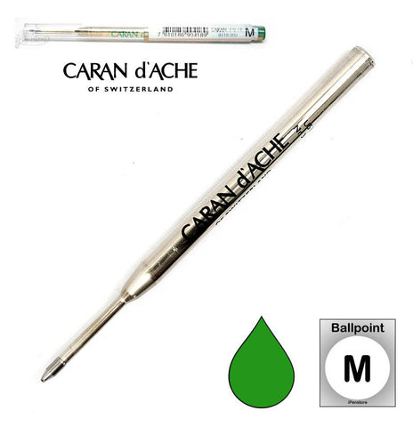 Caran D'ache - Ballpoint Refills - Goliath Refill - Medium Point - Green