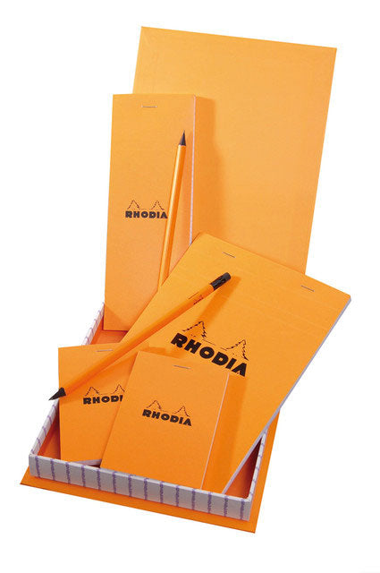 RHODIA RHODIA BOX ESSENTIAL (4  PADS + 2 PENCILS)