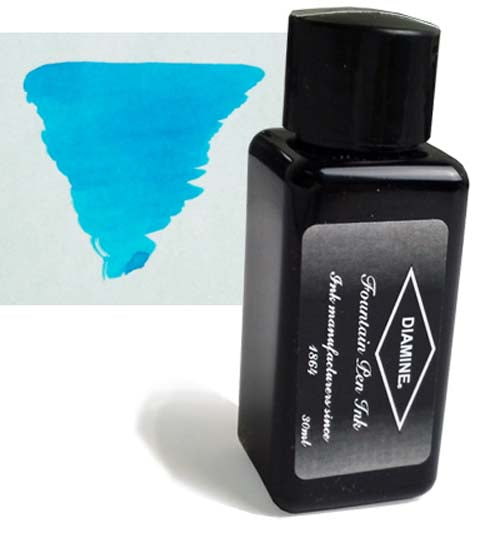 Diamine Refills Aqua Blue 30mL  Bottled Ink
