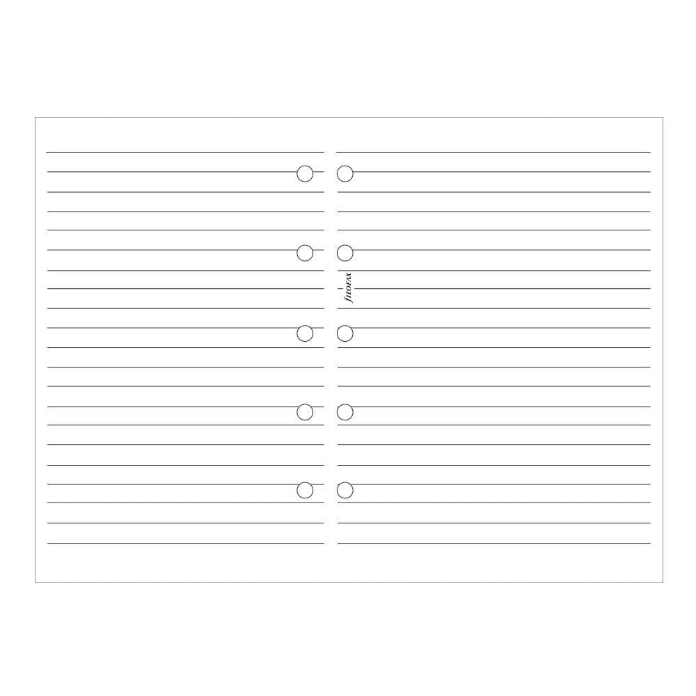 Filofax  -Papers Ruled Notepaper - White - Mini Size