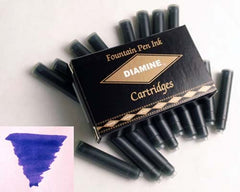 Diamine Refills Imperial Blue / Pack of 18  Fountain Pen Cartridge