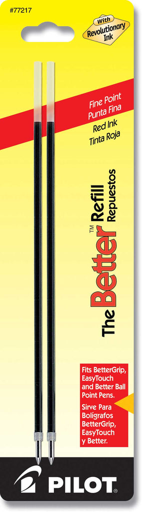 Pilot Ballpoint Better Refills - Red Ink - Fine Point - 2 Pack