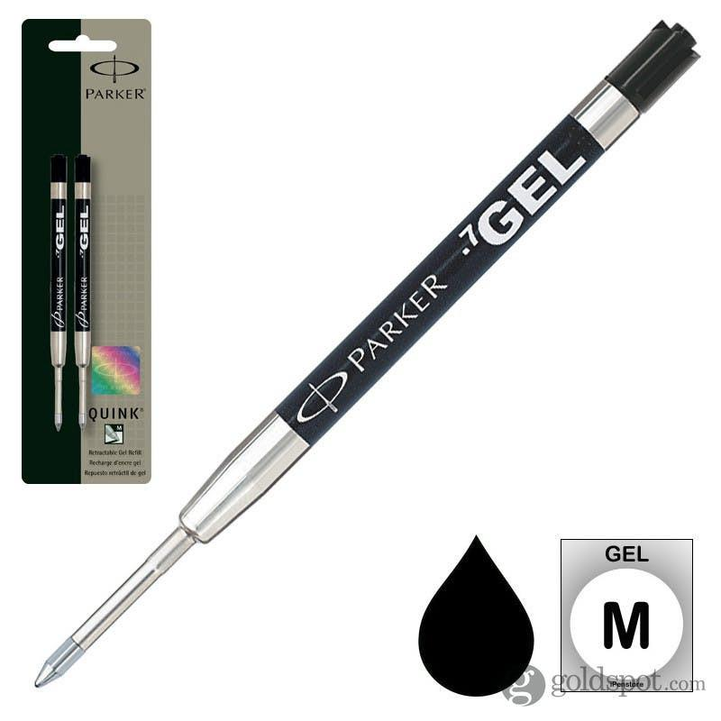 Parker Gel Roller Refills 2/cd (fits all parker ballpoint pens Black M