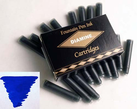 Diamine Refills Sapphire Blue Pack of 18  Fountain Pen Cartridge