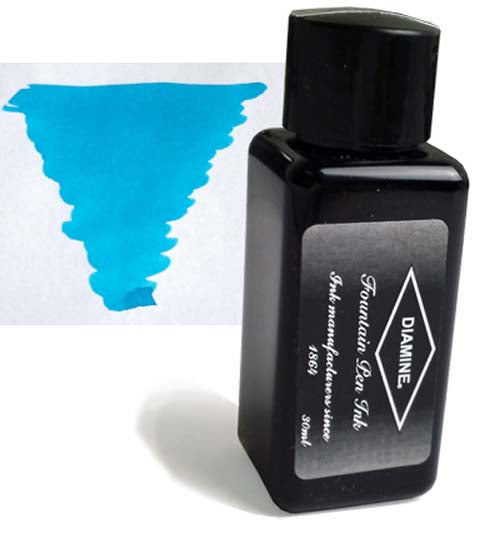 Diamine Refills Aqua Lagoon 30mL  Bottled Ink