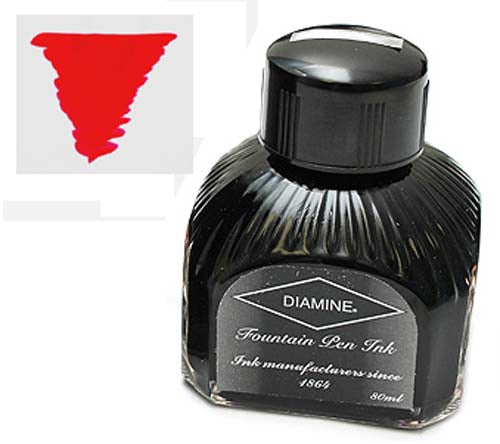 Diamine Refills Ruby  Bottled Ink 80mL