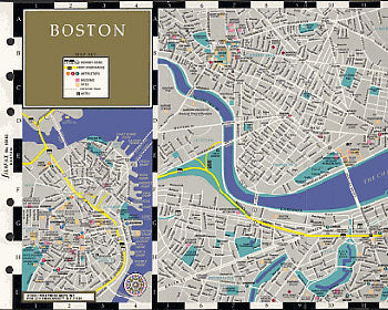 Filofax Papers Boston Map  Personal Size