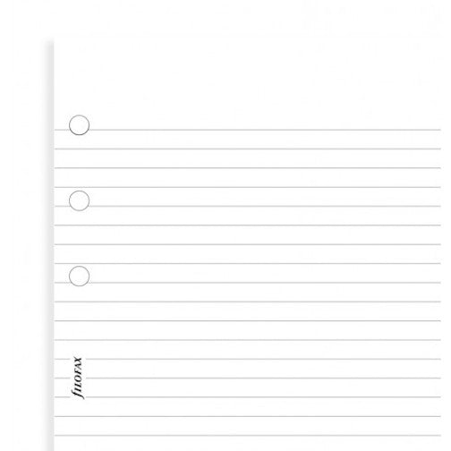 Filofax - Accessories - Personal - White Ruled Notepaper - Value Pack