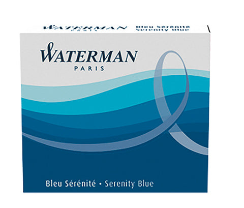 Waterman Mini Serenity Blue (Pack of 6) Fountain Pen Cartridge