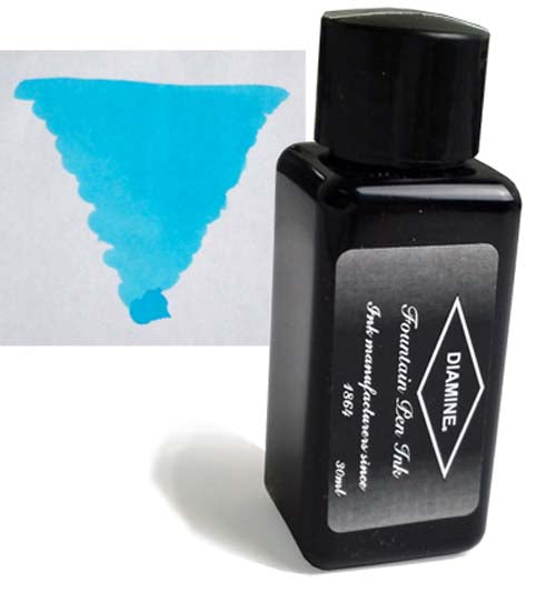 Diamine Refills Beau Blue 30mL  Bottled Ink