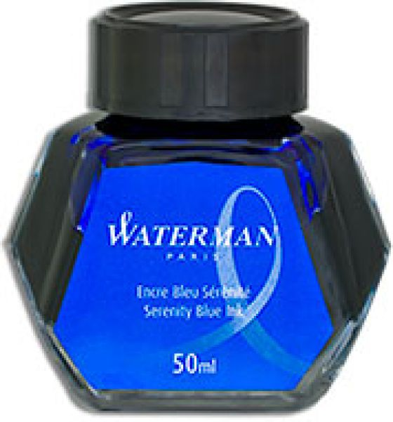Waterman Fountain Pen Serenity Blue 50 ml  Bottled Ink