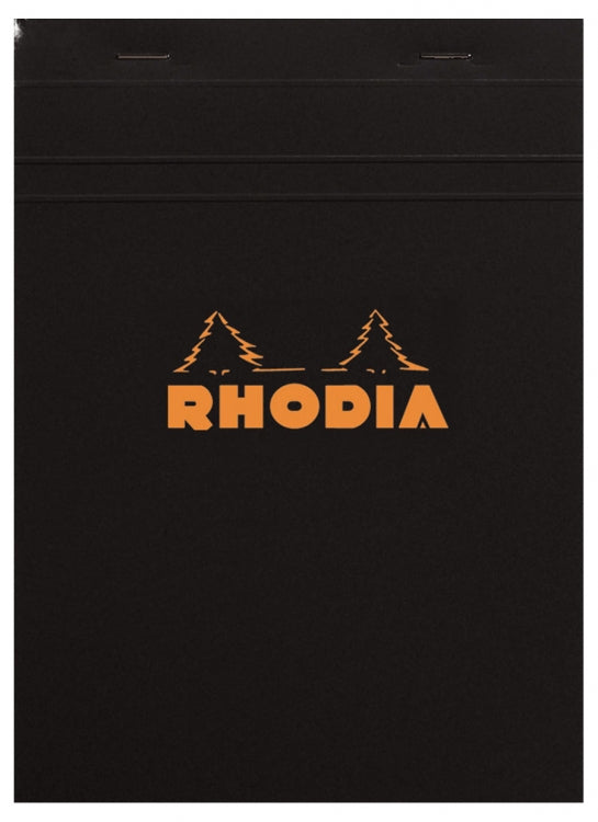 Rhodia Staplebound - Notepad - Black - Graph - 4 x 6