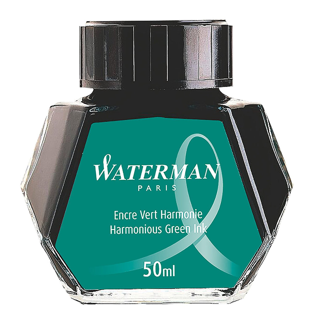 Waterman Fountain Pen Bottled Ink - Harmonious Green