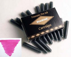 Diamine Refills Claret Pack of 18  Fountain Pen Cartridge