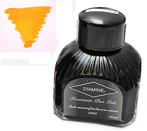 Diamine Refills Sunshine Yellow  Bottled Ink 80mL