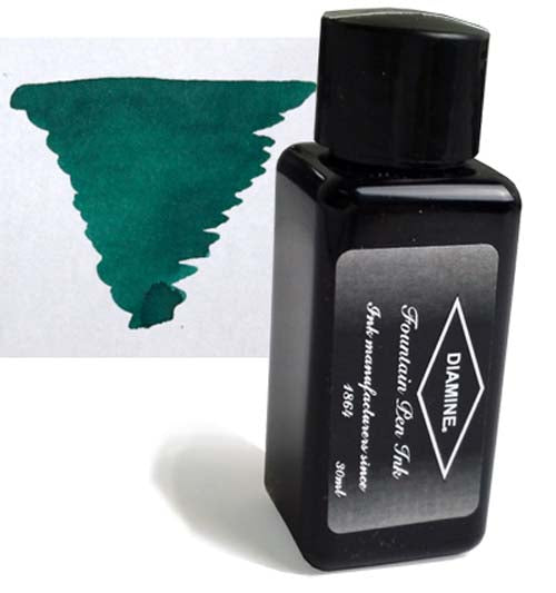 Diamine Refills Delamere Green 30mL  Bottled Ink