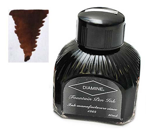 Diamine Refills Chocolate Brown  Bottled Ink 80mL