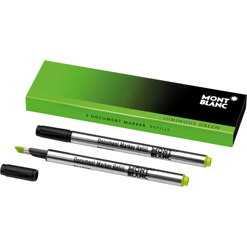 Montblanc Refills Luminous Green Document Marker 2-Pack  Rollerball Pen