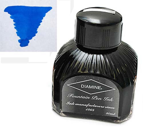 Diamine Refills Mediterranean Blue  Bottled Ink 80mL