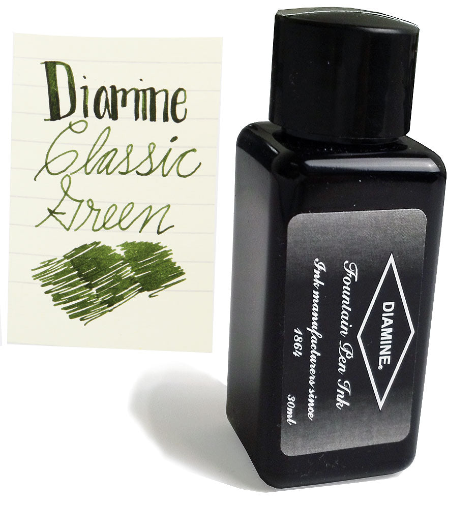 Diamine Refills Classic Green 30mL Bottled Ink