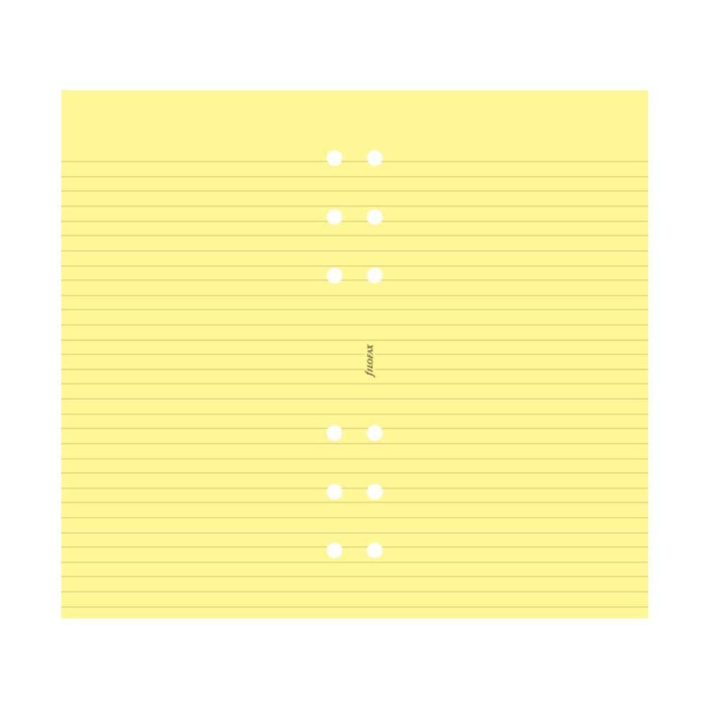 Filofax - Papers Ruled Notepaper - Yellow - Personal Size