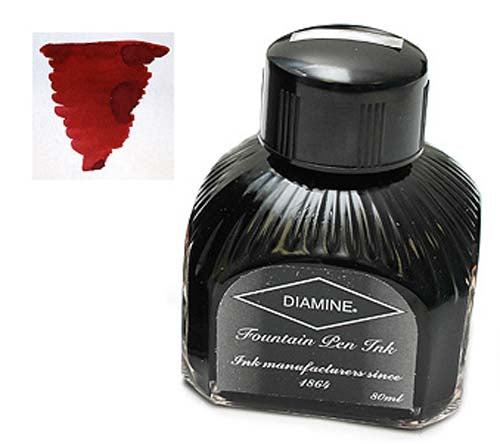 Diamine Refills Oxblood  Bottled Ink 80mL
