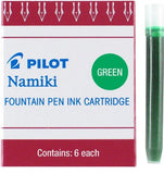 Pilot Namiki Fountain Pen Ink Cartridge - Green 6pk Refill