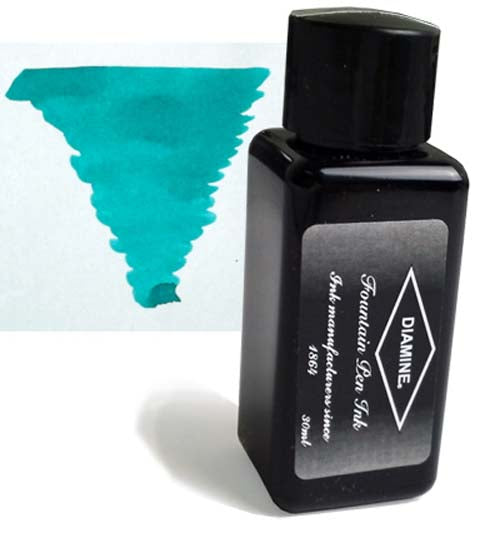 Diamine Refills Soft Mint 30mL  Bottled Ink