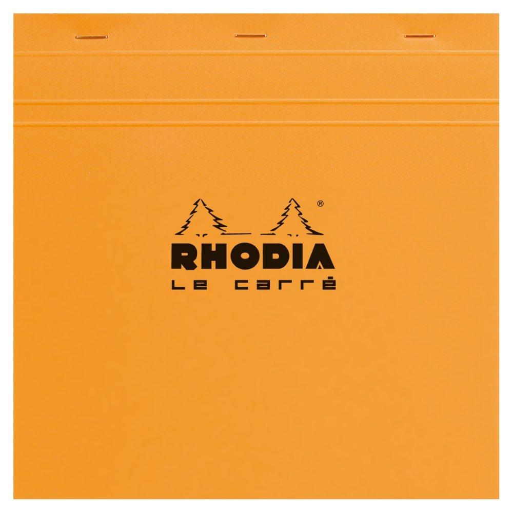 Rhodia Staplebound - Notepad - Orange - Graph - Le Carré - 5.75 x 5.75
