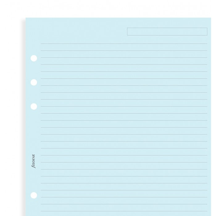 Filofax - Paper Refills - Ruled Notepaper - Personal - Blue