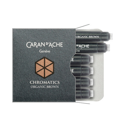 Caran D'ache - Fountain Pen Refills - Chromatics Cartridge - Organic Brown Ink - 6 Pieces