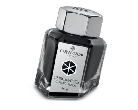 Caran D'ache - Fountain Pen Refills - Chromatics Bottled Ink - Cosmic Black