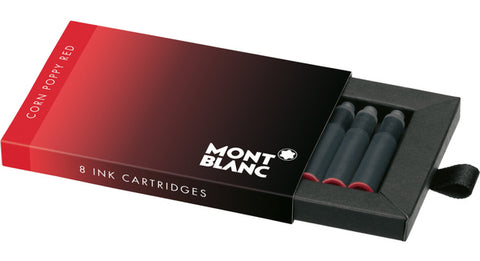 Montblanc Refills Poppy Red 8 per package Fountain Pen Cartridge