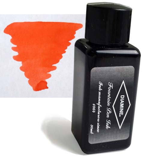 Diamine Refills Vermillion 30mL  Bottled Ink