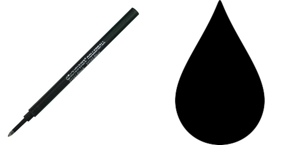 Monteverde Ceramic Rollerball Refills - Black - Broad Point