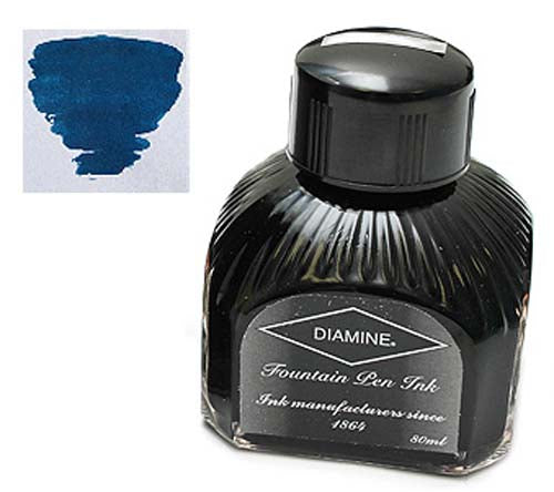 Diamine Refills Blue Black  Bottled Ink 80mL