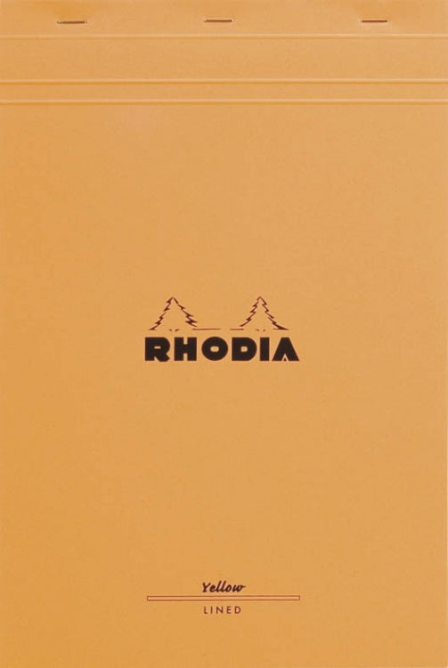 Rhodia Staplebound - Pad - Orange - Lined with Margin - 8.25 x 12.5